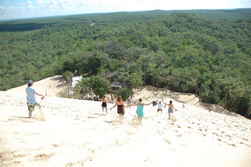 Running down la Dune du Pilat