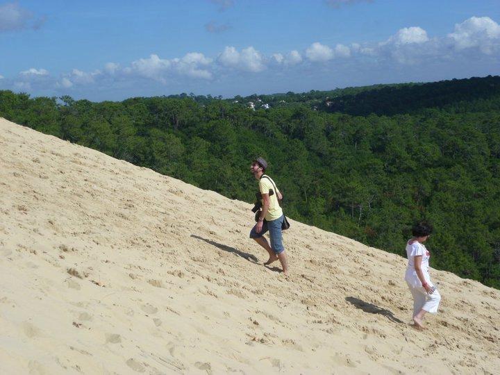 Cam climbing la Dune du Pilat