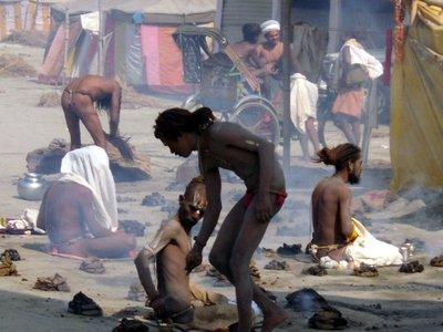 Naga sadhu at Ardh Kumbh Mela