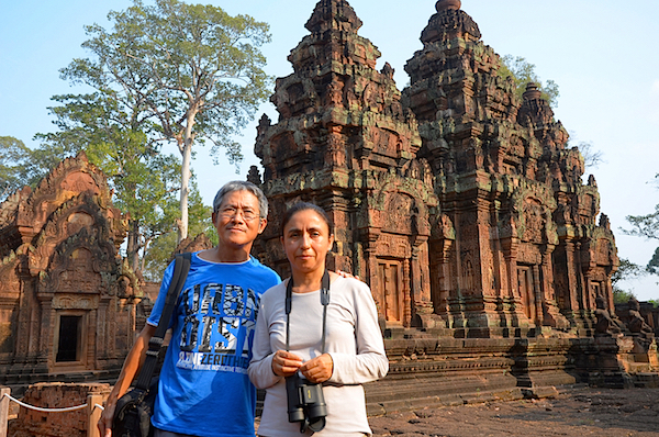 At Banteay Srei, a Hindu temple built in the 10th century with red sandstone