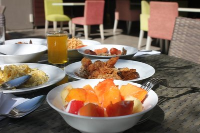 Tropical Breakfast at Ibis Styles Hotel Restaurant