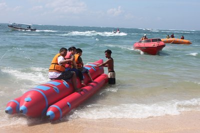 Adventurous Banana Boat riding