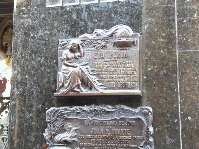 Het graf van Eva Peron