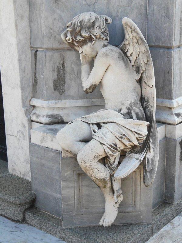 Een engel op het kerkhof van Recoleta