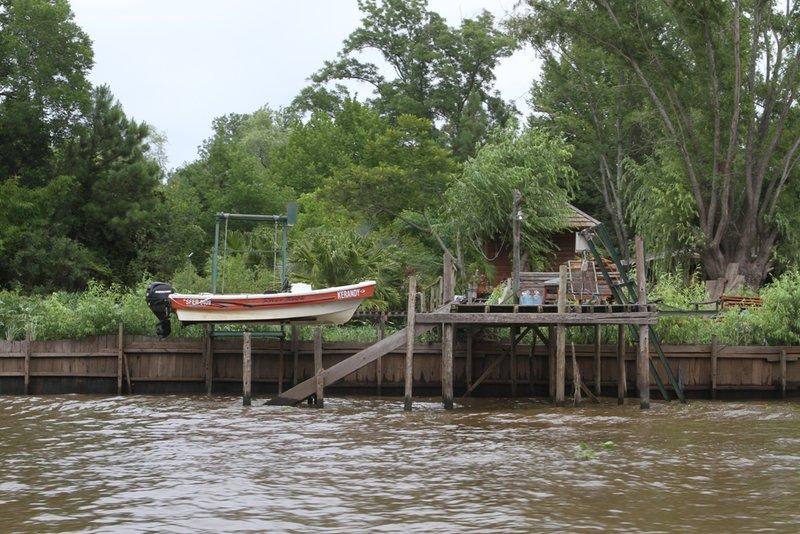 De waterwegen in Tigre