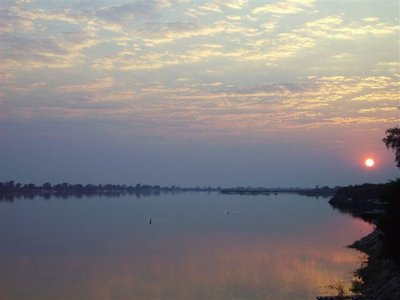 Sunrize on the Zambezi river
