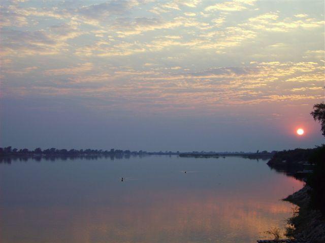 Sunrize on the Zambezi river