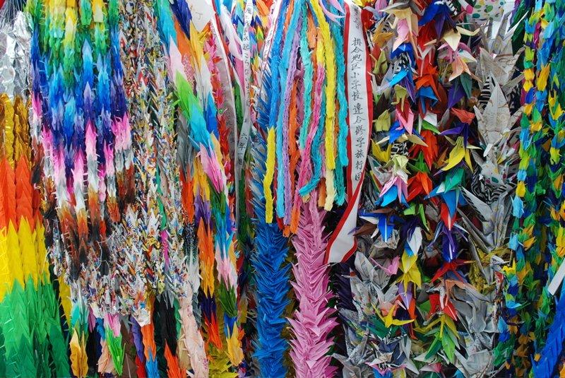 Hiroshima - paper crane chains