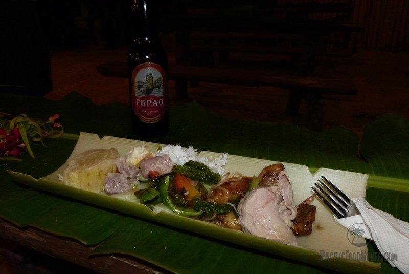 food tonga taro seaweed suckling pig