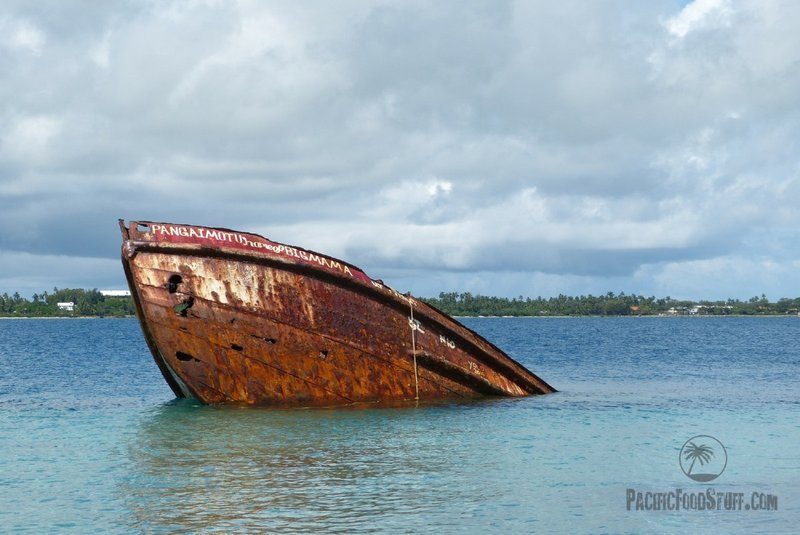 sunk ship tonga south pacific diving