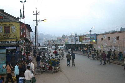 Ooty Streetscape at dusk