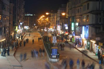 M.G Marg Main street of Gangtok at night