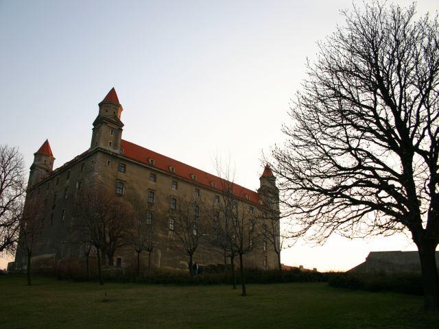 Bratislava, Castle at dusk