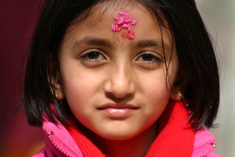 Little Hindu Girl at Dj Gompa