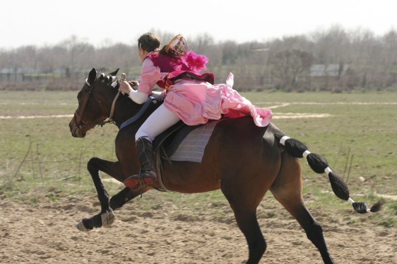 Kazakh Catch and Kiss on Horseback