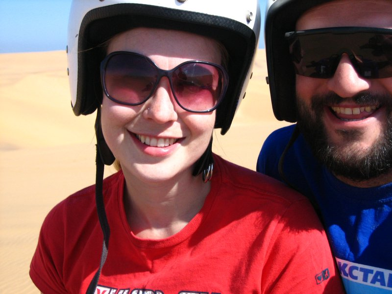 Quadbiking in the Namid desert