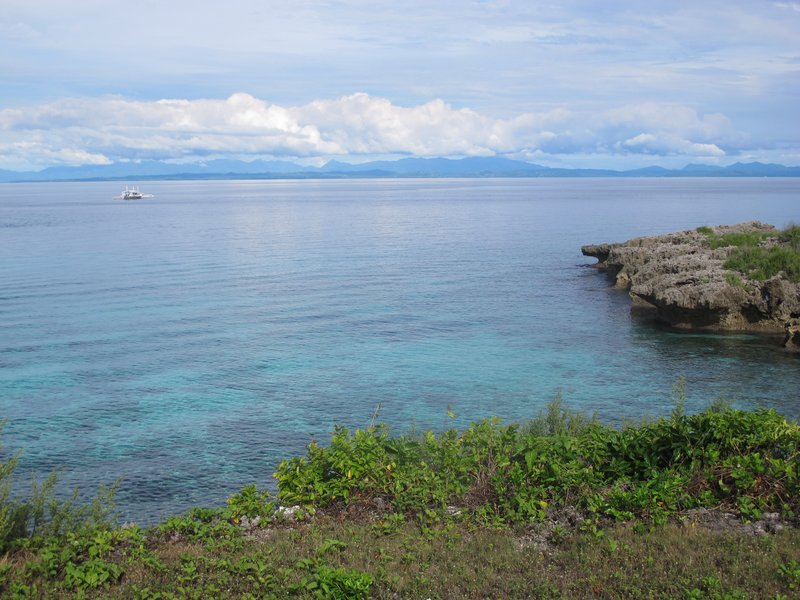 The clear blue water at Malapascua