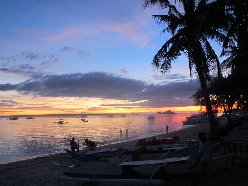 The sunset at Malapascua