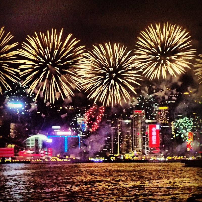Hong Kong lunar new year firework display