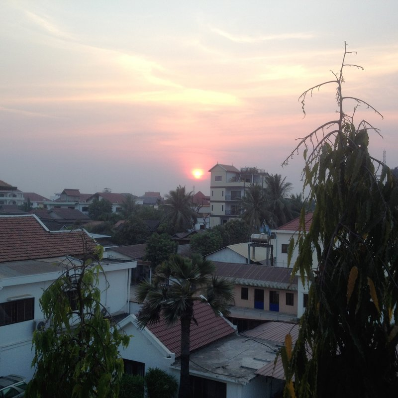 Sunset view from Mad Monkey Hostel