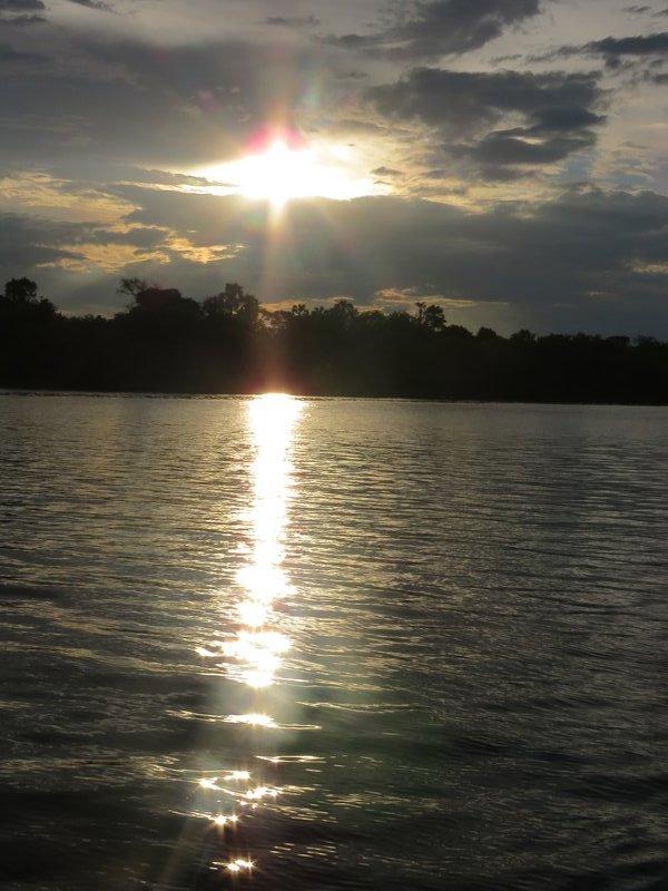 Sunset on the Zambezi