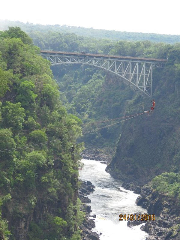 Bridge bordering Zimbabwe and Zambia