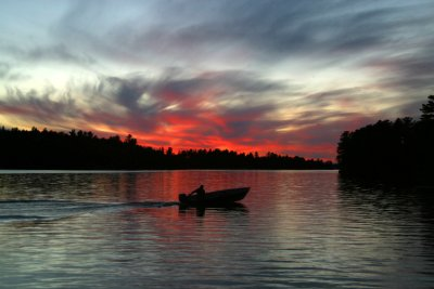 Sunset at Rainy Lake, Ontario, Canada