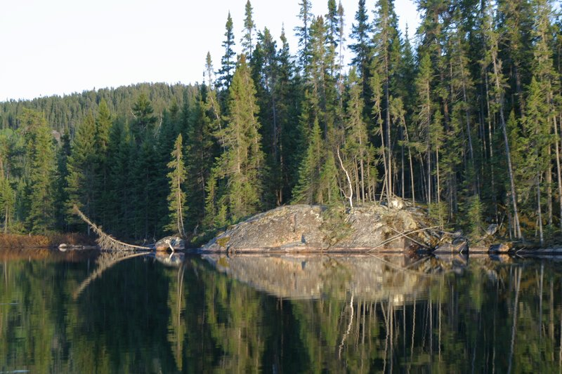 Shoreline along Dryberry Lake
