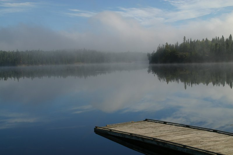 Misty morning at Dryberry Lake