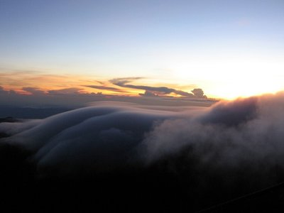 Sunrise at the top of Mt Kinabalu, Borneo