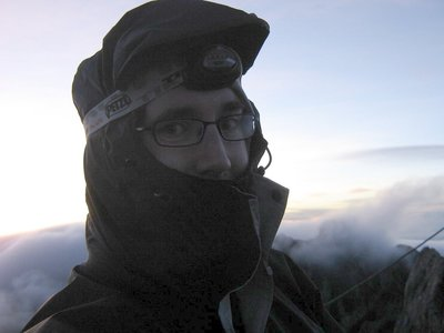 Me at the top of Mt Kinabalu
