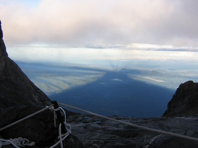 Kinabalu's shadow, from the top of Kinabalu