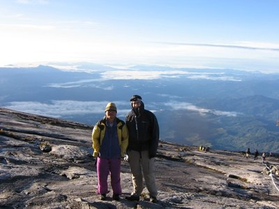 Me on Kinabalu with Saiun, my guide