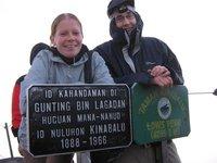 Me & Caroline at Lowe's Peak, Mt Kinabalu, Borneo