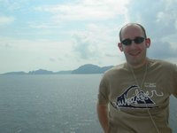 Me on a ferry to Phi Phi Island, Thailand