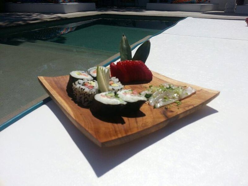 Sushi by the pool
