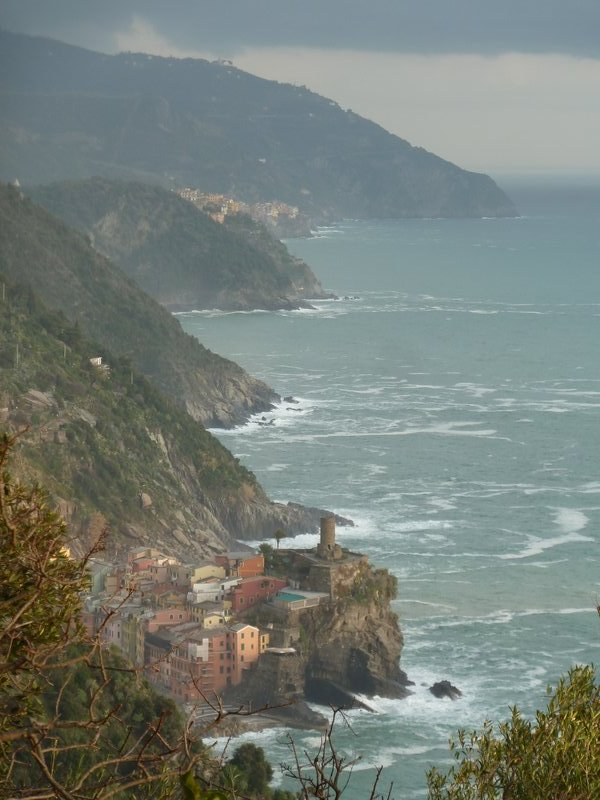 Looking south towards vernazza