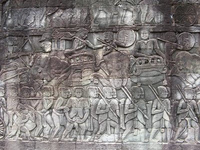 Engravings at the Bayon