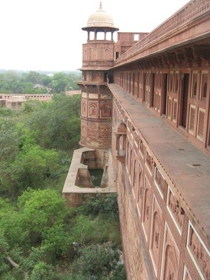 Fortress walls, Agra