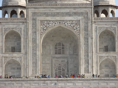 The Taj Mahal from across the Yamuna