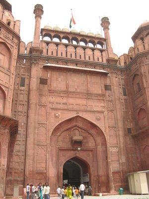 Lal Qila, inner courtyard entrance