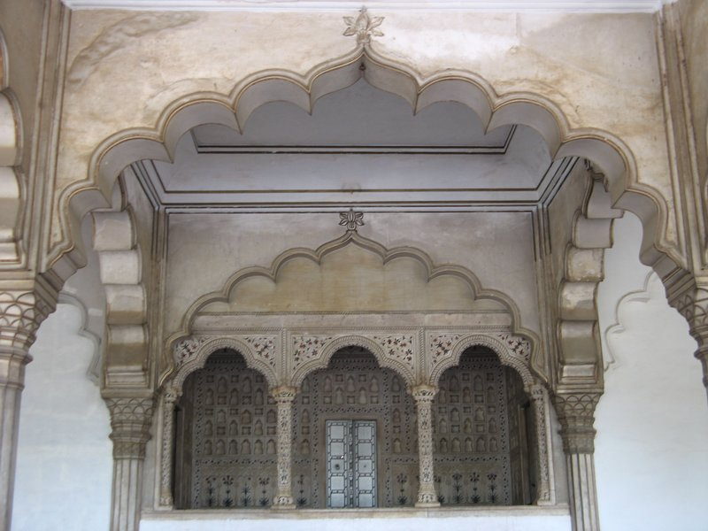 the Diwan-i-Am (Hall of Public Audience) in Agra Fort