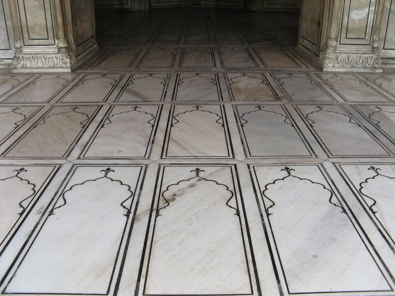 Marble prayer squares, Jama Masjid