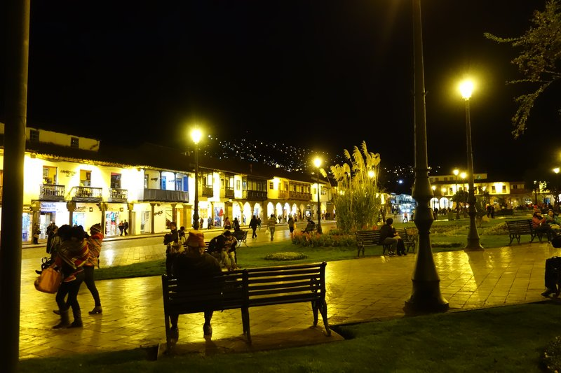 Evening in the Plaza de Armas