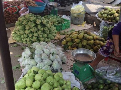 Local fruits at market