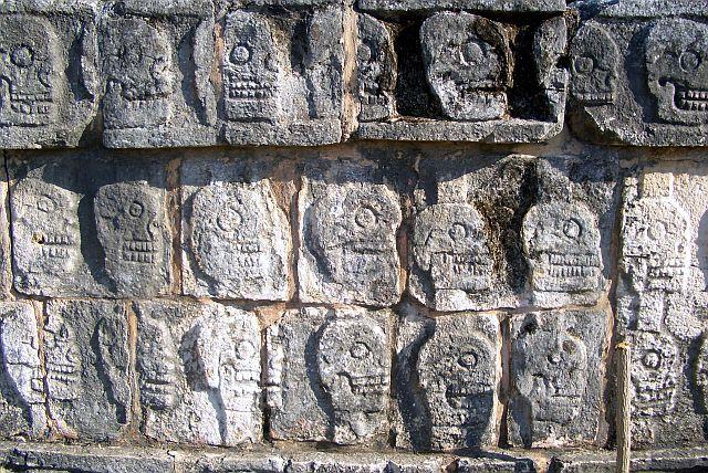Chichen Itza - Skull Bas Reliefs