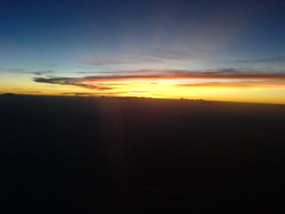 Caught Wonderful Sunset from Air