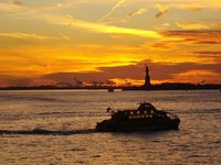 Sunset frm Staten island Ferry