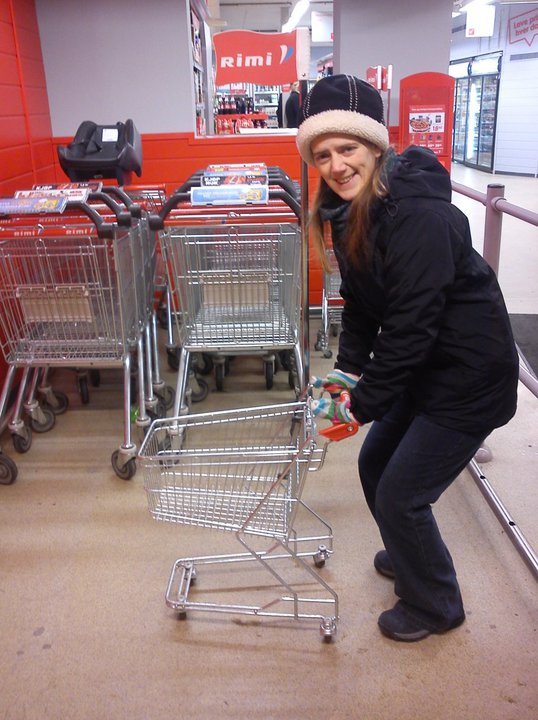 Me shopping in a supermarket in Oslo