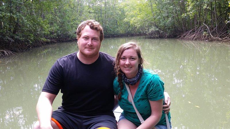 Touring a mangrove in Costa Rica